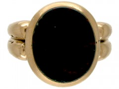 Victorian 15ct Gold & Bloodstone Signet Ring
