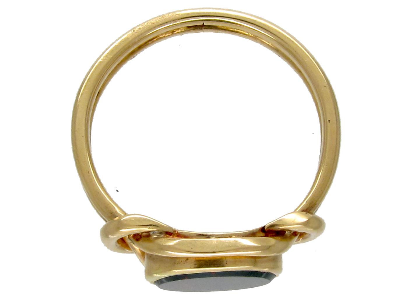 Victorian Gold & Bloodstone Signet Ring