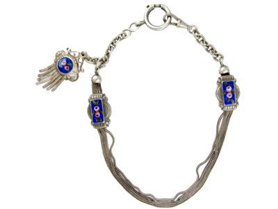 Silver & Enamel Albert Chain