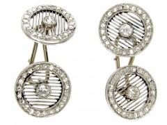 Diamond & Platinum Art Deco Cufflinks