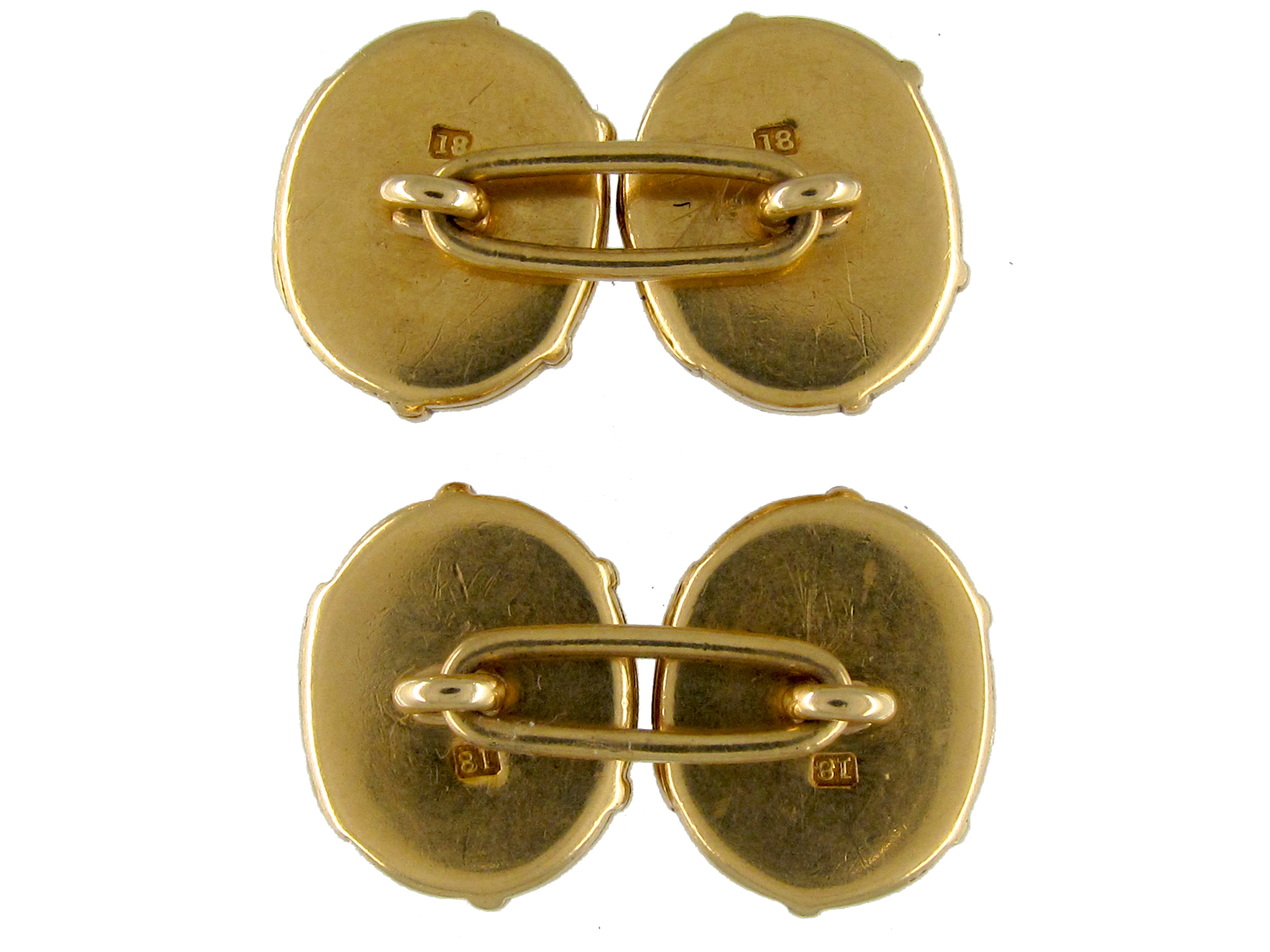 Victorian Gold Engraved Seal Opening Locket Cufflinks