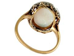 Edwardian Opal & Diamond Cocktail Ring