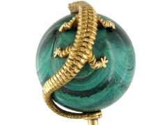 Gold & Malachite Salamander Tie Pin