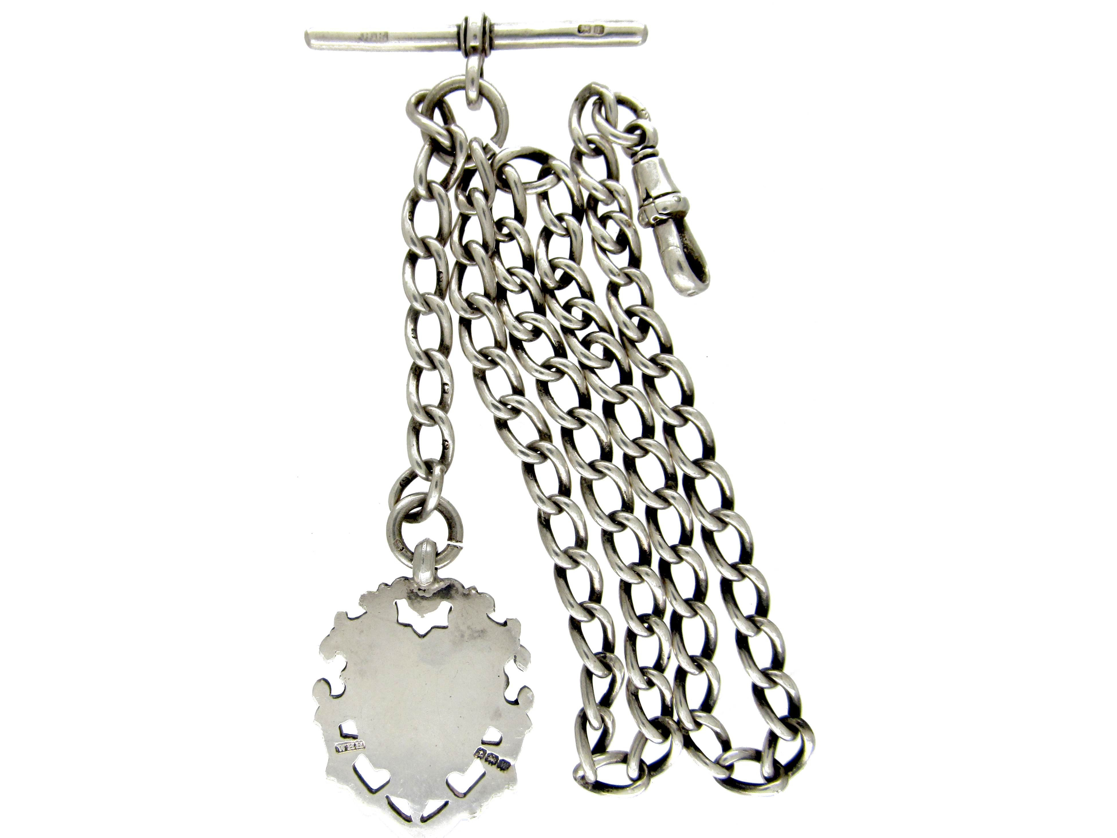 Silver Albert Chain with Medallion