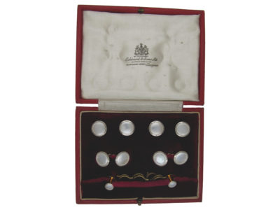 Gold Cufflinks, Buttons & Studs Set