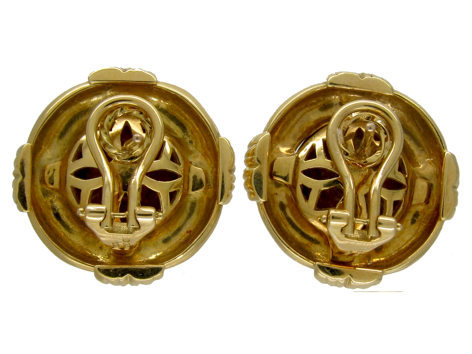 18ct Gold Round Earrings
