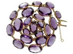 Georgian Gold & Amethyst Collar