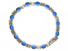 Blue & White Victorian Paste & Silver Collar