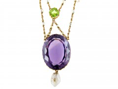 Suffragette 15ct Gold Necklace