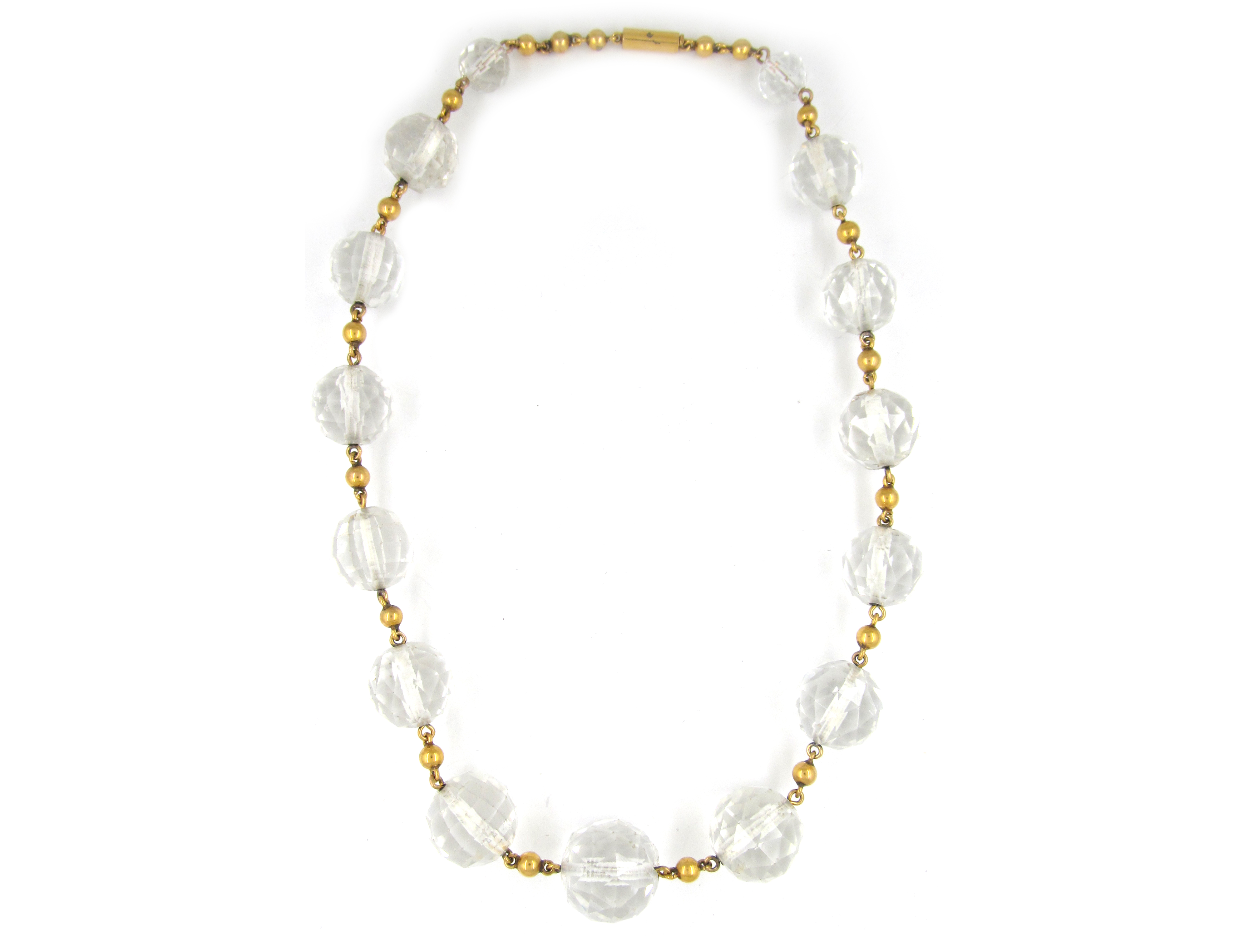 18ct Gold & Rock Crystal Necklace