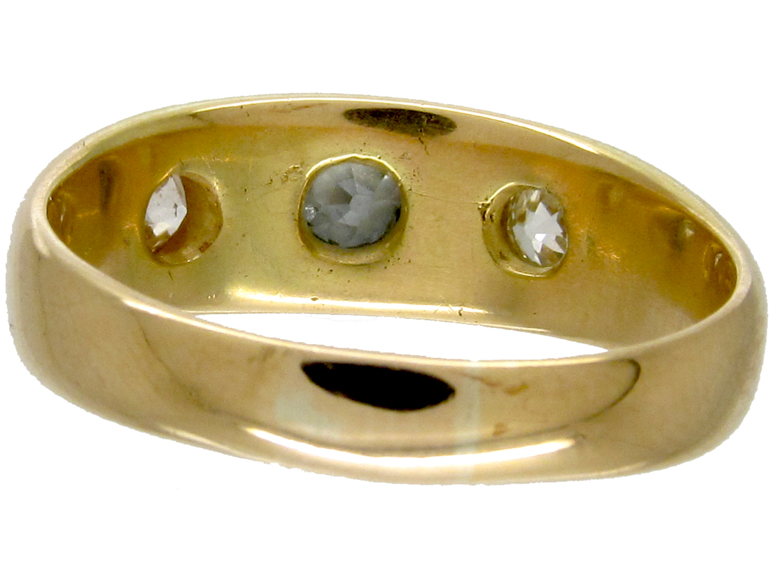 Victorian Three Stone Diamond Gypsy Ring