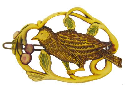 Art Nouveau Horn Bird Hair Slide