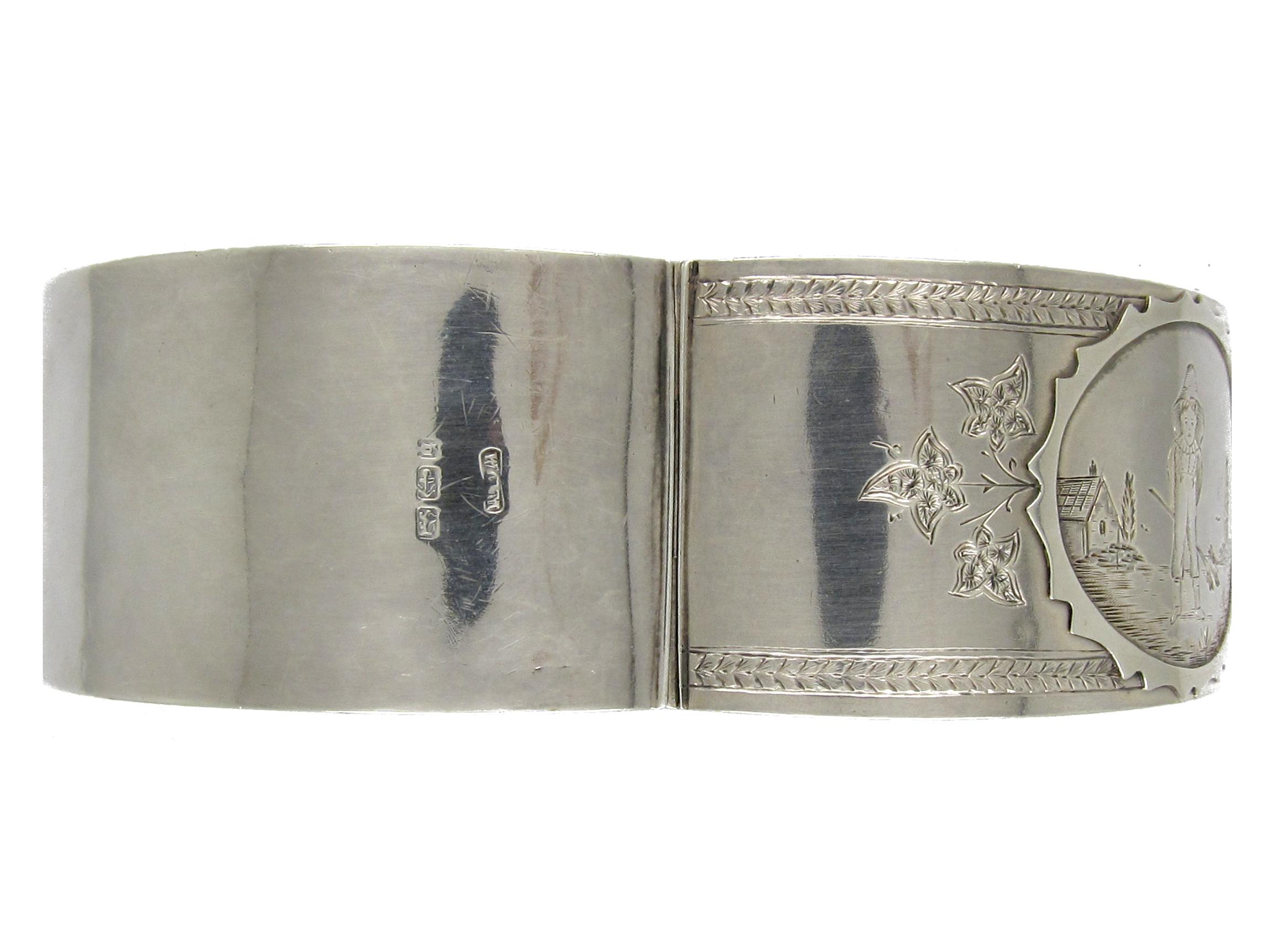Victorian Silver Kate Greenaway style Bangle