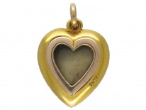 Diamond & Pearl Heart Pendant