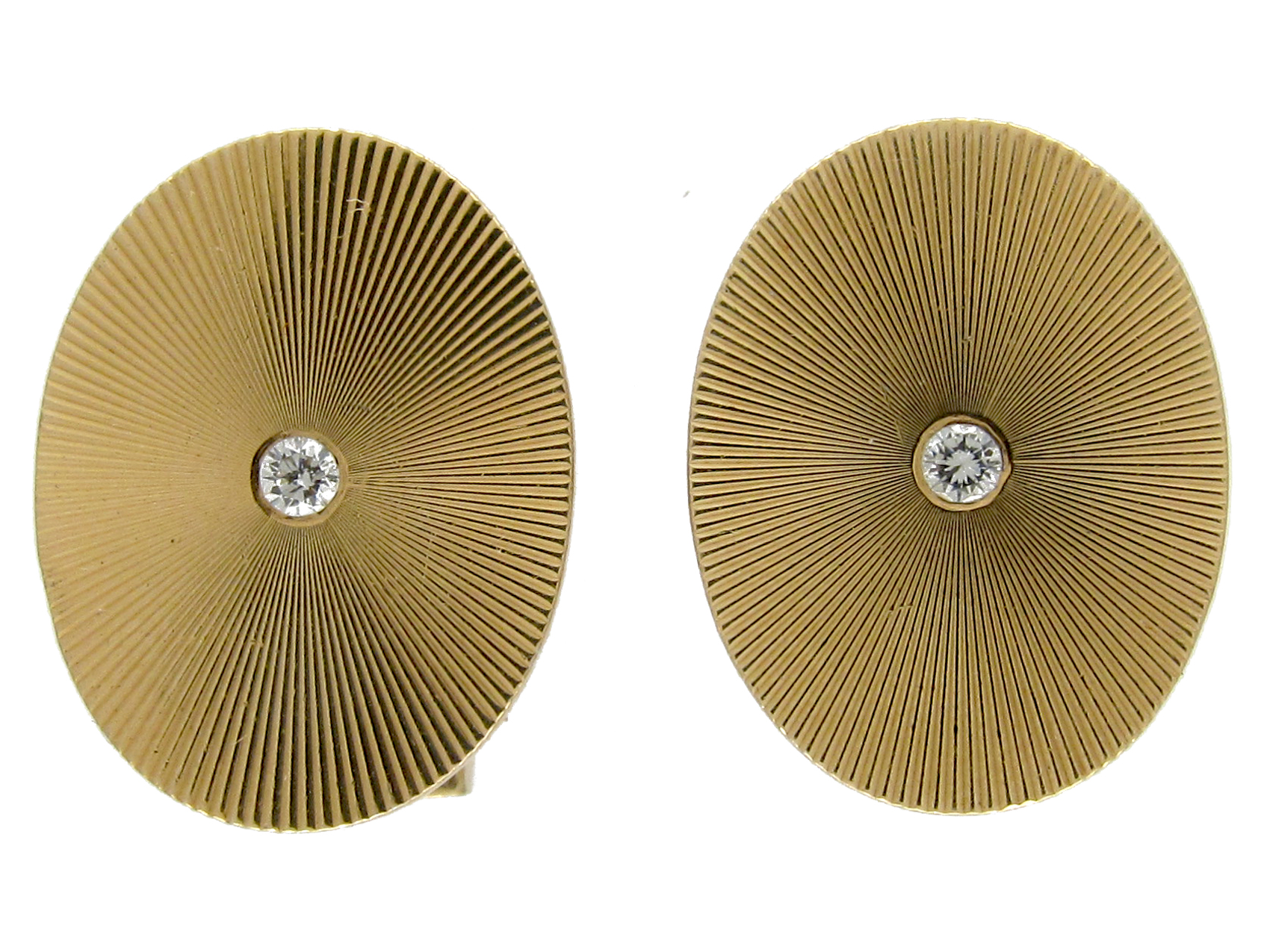 Tiffany & Co. 18ct Gold & Diamond Cufflinks