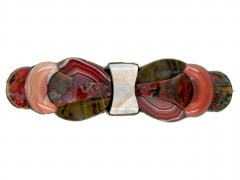 Scottish Silver & Agate Bow Brooch