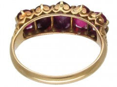 Victorian Five Stone Ruby Ring