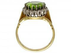 Victorian Peridot & Diamond Ring