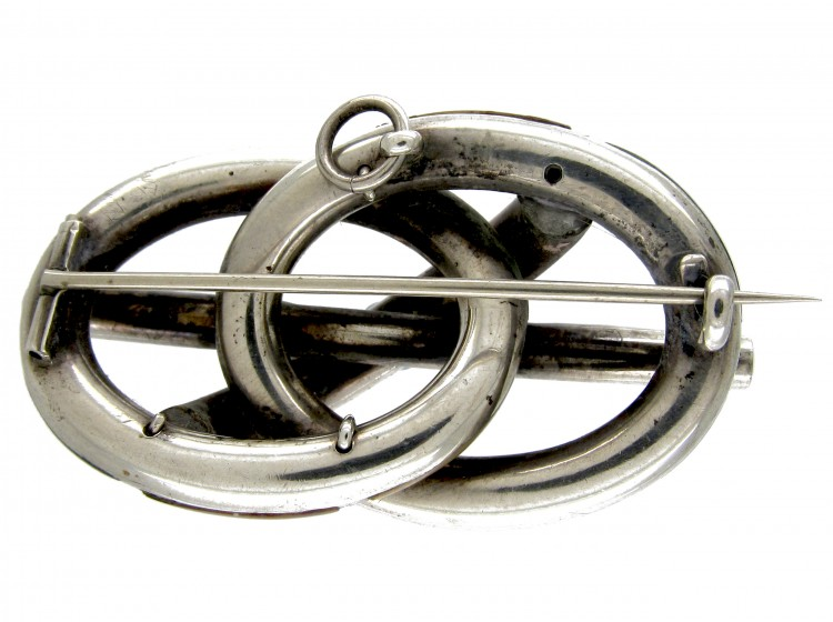 Victorian Silver Scottish Agate Knot Brooch