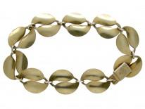 David Andersen Silver & Enamel Leaf Bracelet