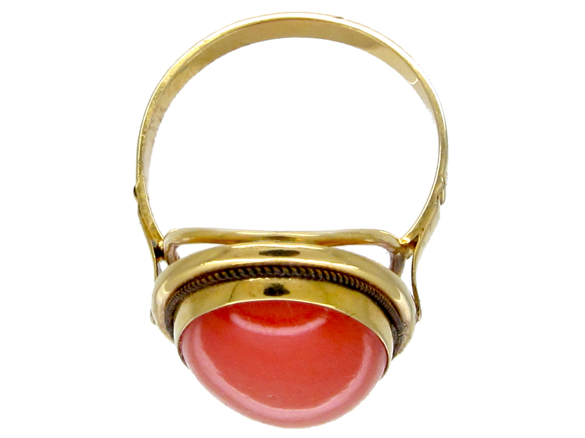 18ct Gold Coral Ring