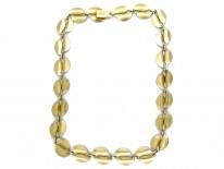 David Andersen Blue Enamel & Silver Leaf Necklace