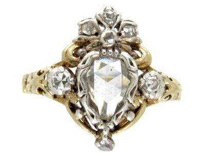 Rose Diamond Heart-Shaped Ring