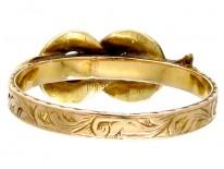Georgian Gold & Garnet Lover's Knot Ring