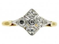 Edwardian Diamond Shaped Diamond Ring
