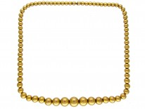 Victorian 15ct Gold Graded Bead Necklace