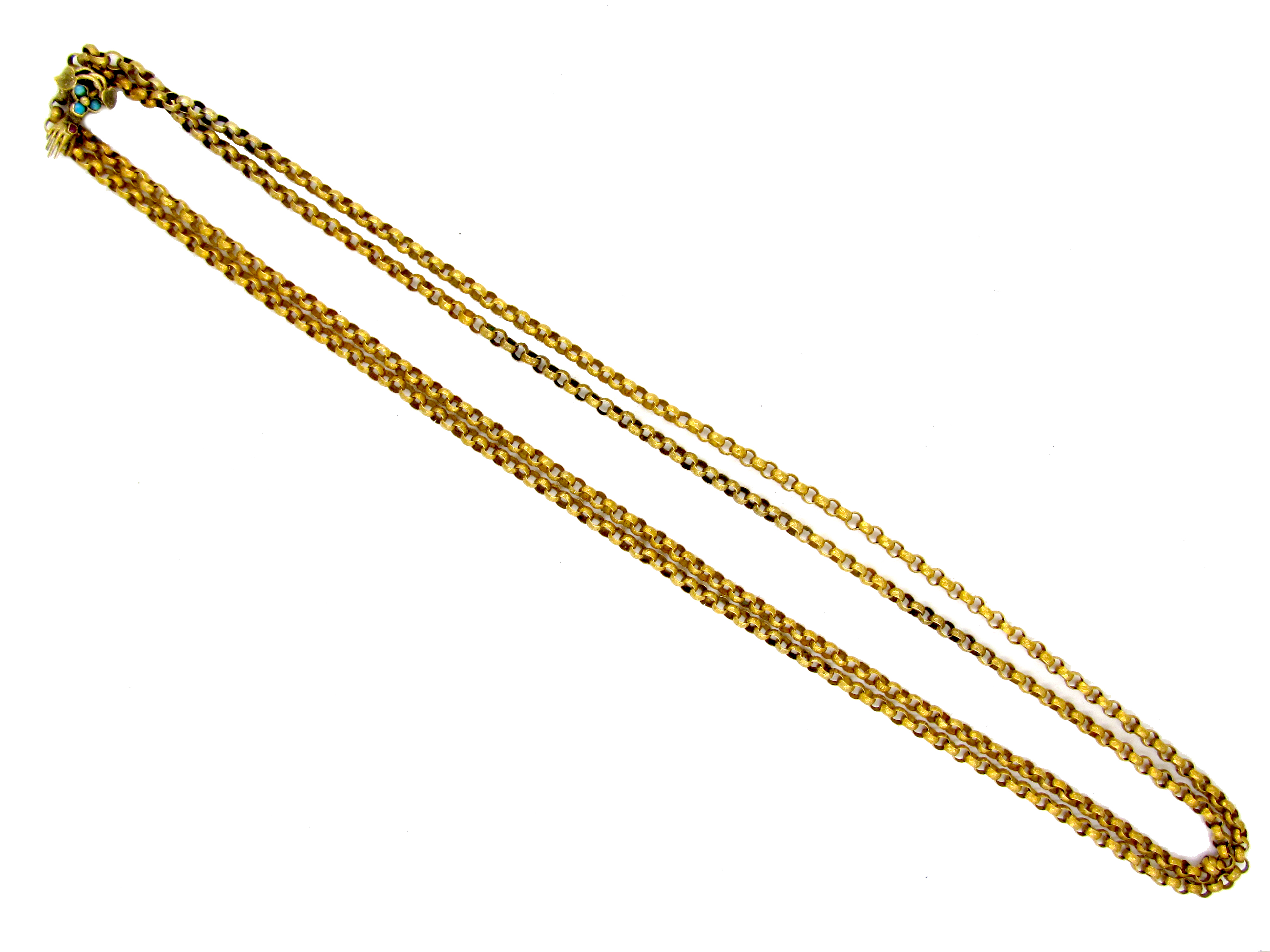 Georgian 18ct Gold Guard Chain with Hand Clasp