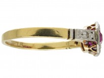 Ruby & Diamond Art Deco Ring