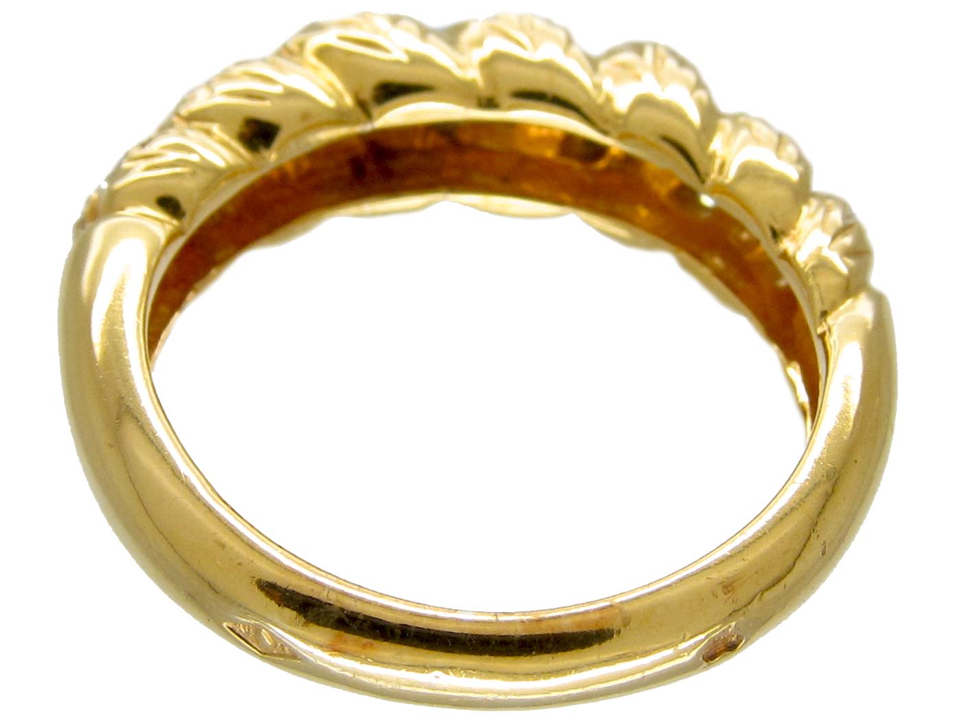 Cartier 18ct Gold Twist Diamond Set Ring in Original Case