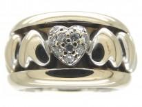 Piaget 18ct White Gold & Diamond Heart Ring
