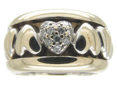 Piaget 18ct White Gold & Diamond Heart Ring
