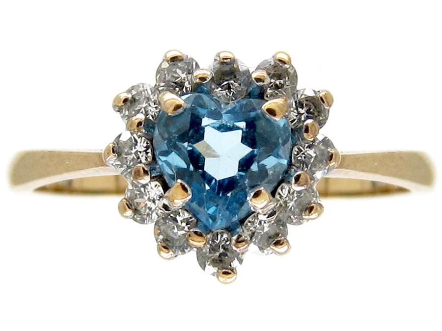 Heart Shape Diamond & Zircon Ring