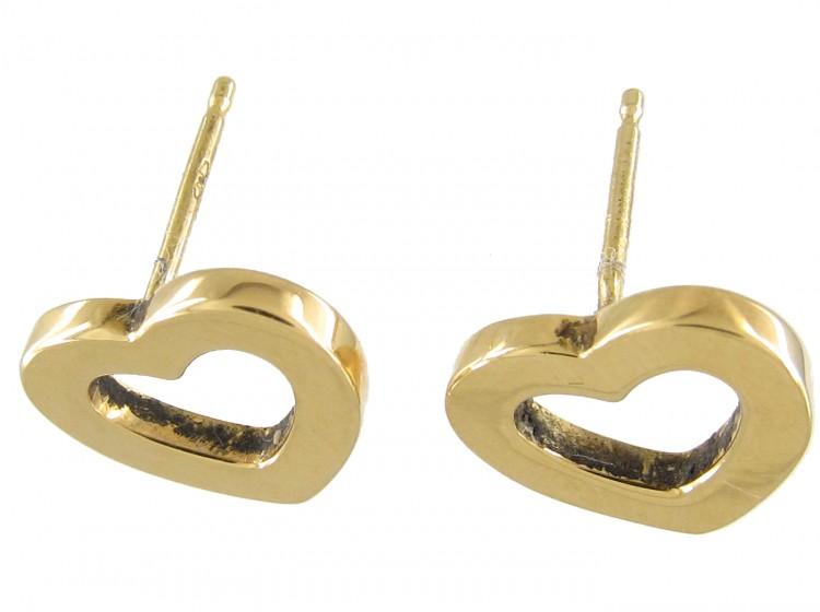 Tiffany & Co. 18ct Gold Heart Earrings
