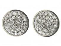 Round Diamond Studded Earrings