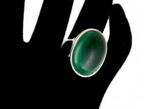 Silver & Malachite Ring