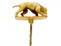 Hunting Dog 18ct Gold Victorian Tie Pin
