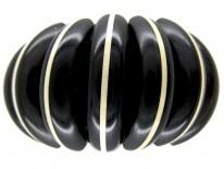 Art Deco Carved Horn Bangle