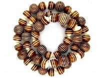 Art Deco Brown & Cream Bakelite Necklace