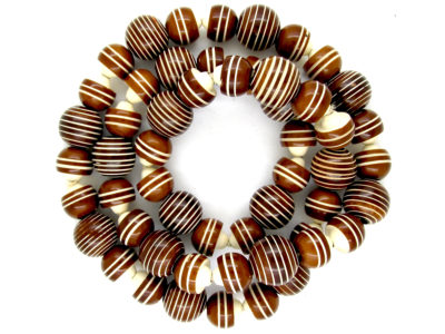 Art Deco Brown & Cream Bakelite Necklace