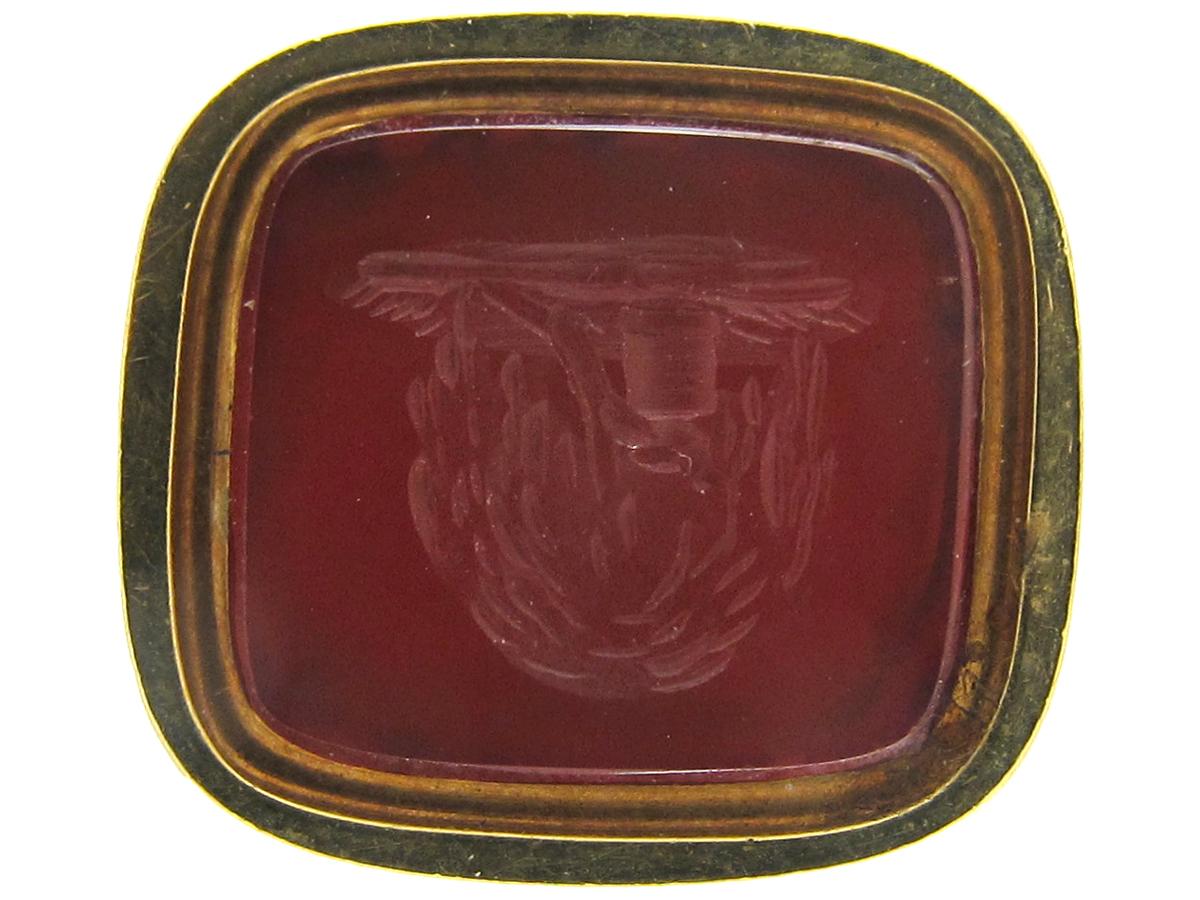 Regency Gold Cased Seal with Carnelian Base