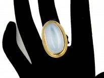 Large Gold Moonstone Ring