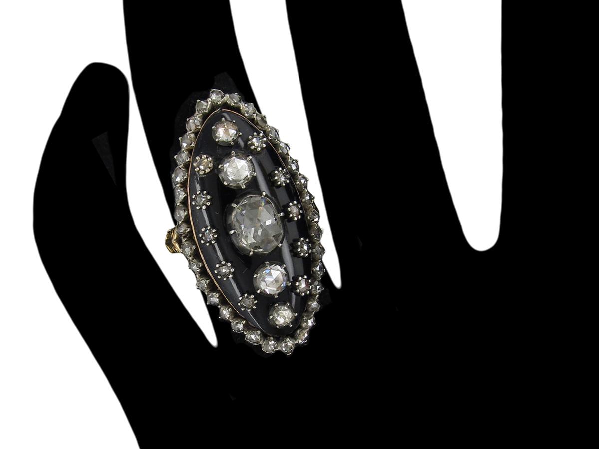 Georgian Diamond Stellar Marquise Ring