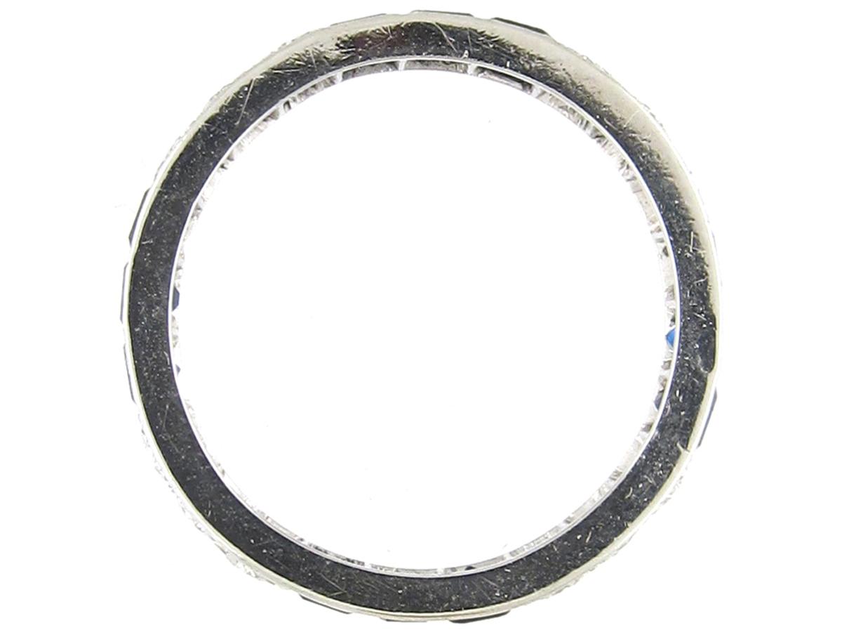 Art Deco Sapphire & Diamond Eternity Ring