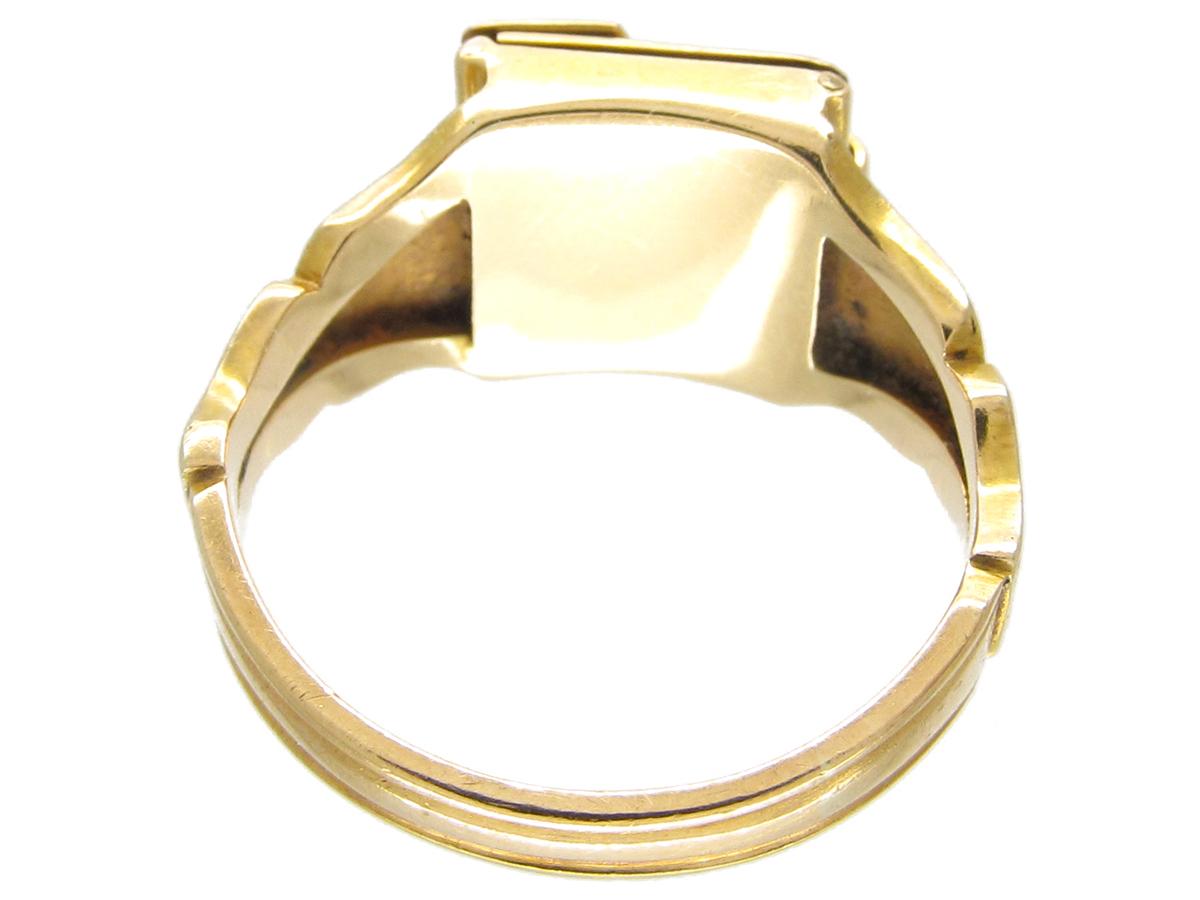 First World War 18ct Gold Opening Locket Ring