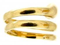 Ruby & Diamond 18ct Gold Victorian Snake Ring
