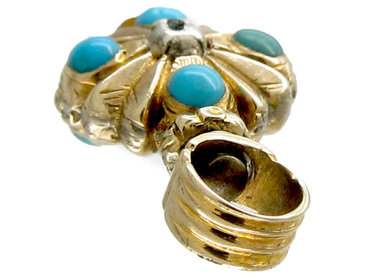 Regency Gold & Turquoise Watch Key